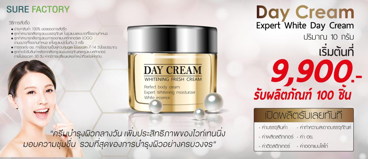 โปรโมชั่นผลิตครีม Expert White Day Cream